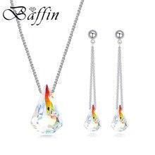 7c81fcd3ed05 2018 BAFFIN de cristales de SWAROVSKI Spike colgante collares de cadena  larga pendientes conjuntos de joyas para mujeres regalo .