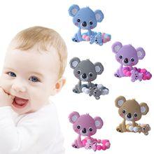 1 Set Child Baby Pacifier Teether Bracelet Soothing Boys Girls Cute Koala Colorful Design Kids Comfort Supplies