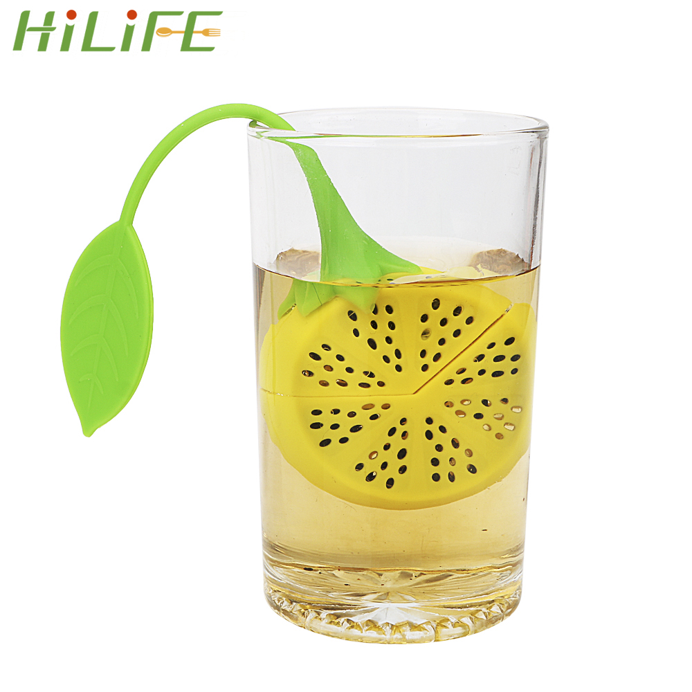 HILIFE Lemon High Temperature Resistance Silicone Filter Tools Tea Supplies Herbal Spice Tea Leaf Strainer Diffuser