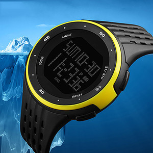 SANWOOD Luxury Brand Men's Digital Watches Casual Waterproof Stopwatch Week Date LED Display Digital Wrist Watch For Men Running