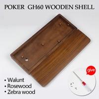 Gh60 Poker Keyboard Wood Case Black WalnutWood Scented RoseWood