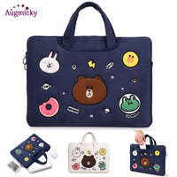 11 12 13 14 15 inch Cute bear Notebook Sleeve Bag Cases Laptop Cover Pouch For Macbook Air Pro 13.3 Dell Sony Acer HP XiaoMi