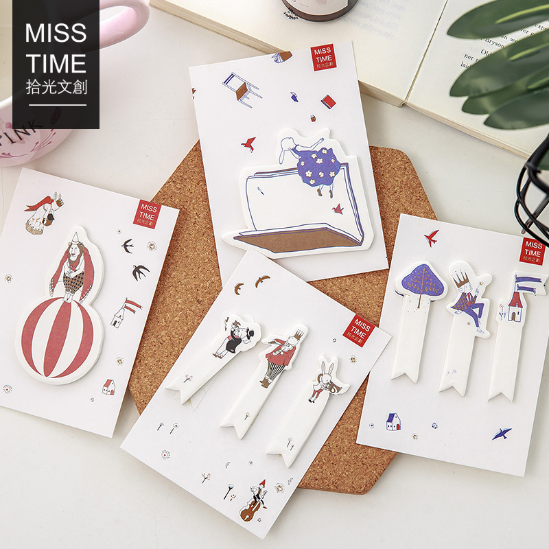 4 pcs Sweet whispers sticky notes Color index memo pad Bookmark ...