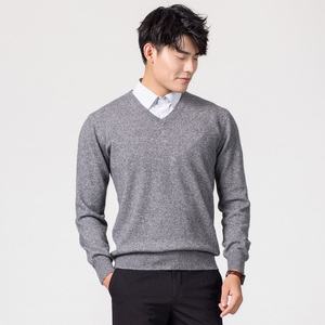 Image 4 - Man Pullovers Winter New Fashion Vneck Sweater Cashmere and Wool Knitted Jumpers Men Woolen Clothes Hot Sale Standard Male Tops
