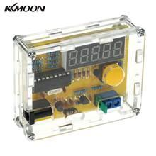 Medidor de frecuencia de bricolaje, contador de cristal digital, probador de oscilador con funda transparente de 1Hz ~ 50MHz