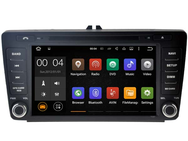 Android 7 1 1 2GB ram car dvd Audio player FOR SKODA OCTAVIA II 2004 2011