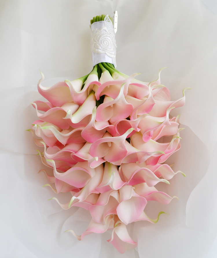 INDIGO-rose Calla mariée Banquet fleur vraie touche fausse fleur fête de mariage fausse fleur fleur livraison gratuite
