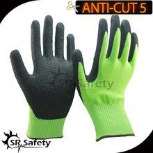 SRSafety 12 Pairs Of CE Standard CUT level 5 cut resistant gloves,sandy finish