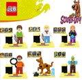 6 unids Linda Película de Dibujos Animados Scooby Doo Perro anfitrión Sharqi Ensamble Muñeca 3D Modelo de Construcción Ladrillos Bloques de Juguete Para Niños FW107