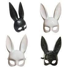 15a4153d6 Festa de Máscaras Máscaras de Coelho Sexy Coelho Orelhas Longas Branco  Decoração de Halloween Traje Do