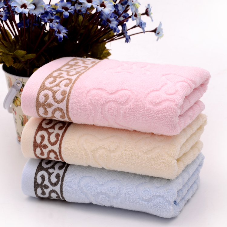 3 PCS/Lot Plain Dyed Wholesale Retail Towel Family Face