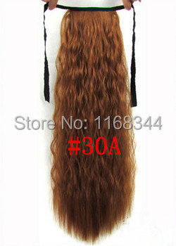 45 70cm curly ribbon ponytail hairpiece hair pieces clip