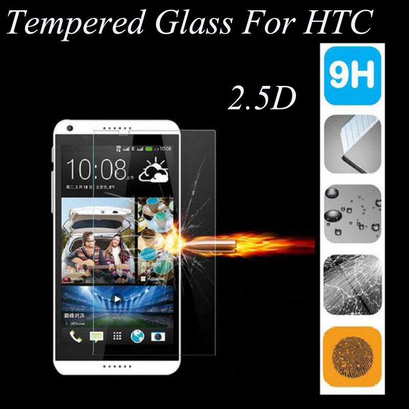 2.5D 9H Tempered Glass For HTC Desire 601 616 620 626 816 820 826 For HTC One M7 M8 M9 10 Screen Protector Cover Toughened Film