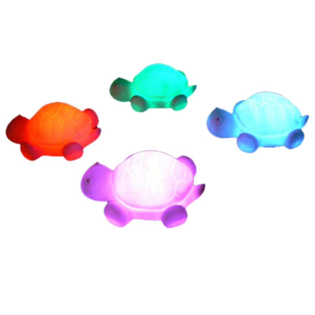 1 Stücke New Schildkröte Led 7 Farben Nachtlicht Lampe Weihnachtsdekoration Bunte