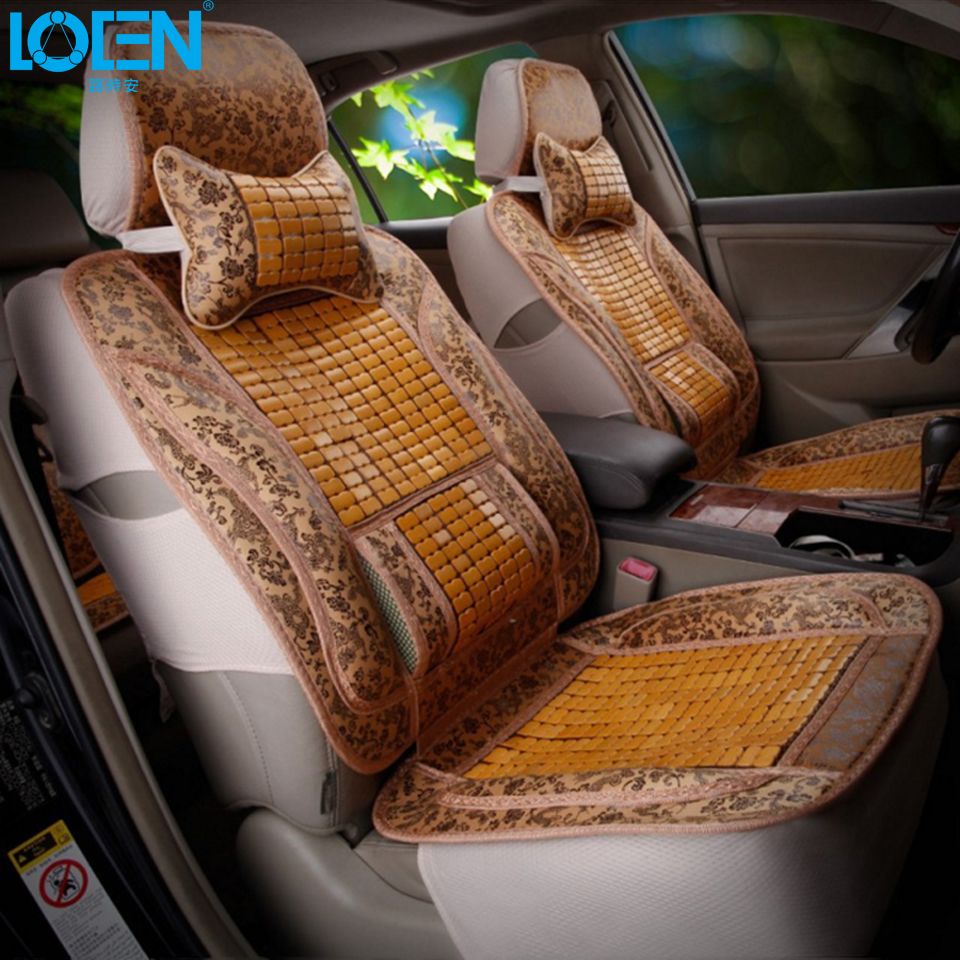 high quality summer car seat covers for universal cars seat cushion set bamboo seats cover. Black Bedroom Furniture Sets. Home Design Ideas