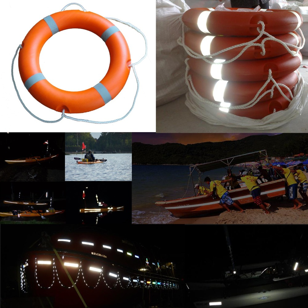 Купить с кэшбэком 5cmx10m Solas Grade Marine Reflective Tape for Life-Saving Products sewing on clothes