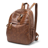 Women Backpack School Bags For Teenagers Girls 2018 Fashion Vintage Brand Design Mochila Student Feminine Leather Backpack C593