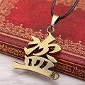 Libre shipping2015 Nueva Tumba señala bronce collar personalizado collar de los colgantes para los hombres al por mayor de caracteres Chinos