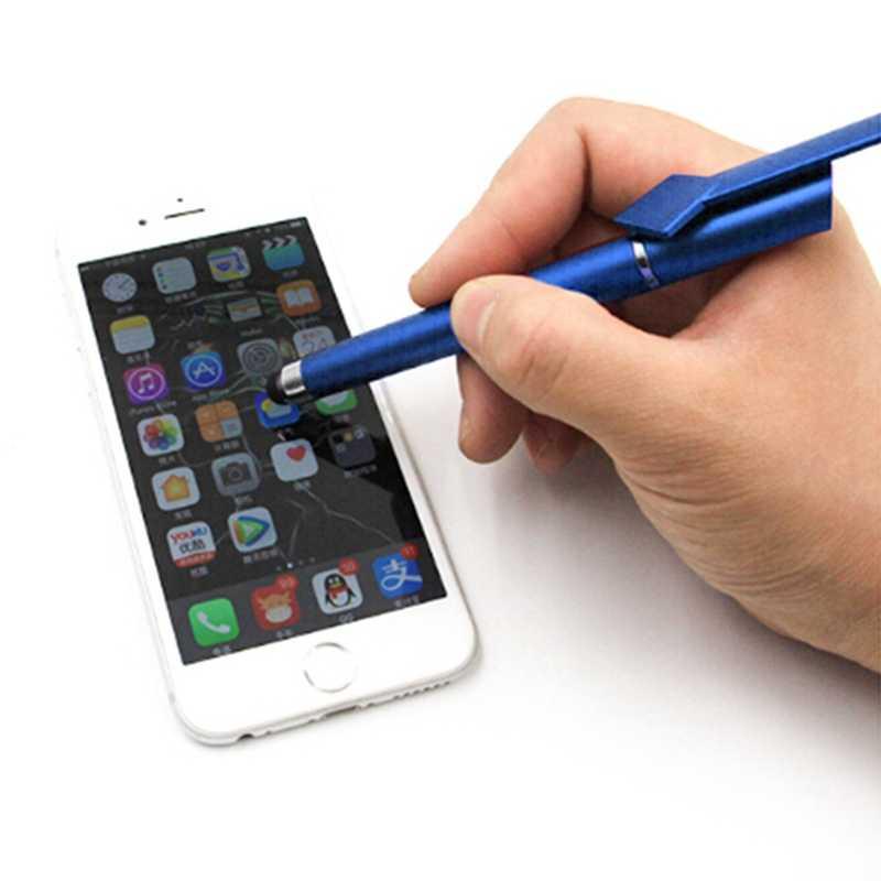 Многофункциональный стилус для мобильного телефона + Шариковая ручка + подставка для мобильного телефона Подарочный рекламный логотип на заказ DIY для Iphone 6 7