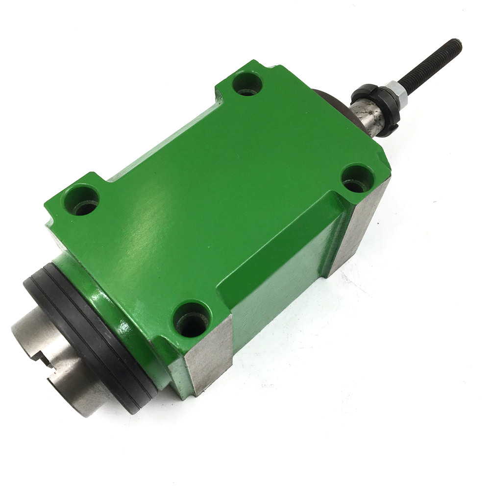 2HP 1.5KW BT30 Belt Spindle Head Taper 7:24 Power Head Unit High Speed 3000rpm for Drilling Machine with Drawbar