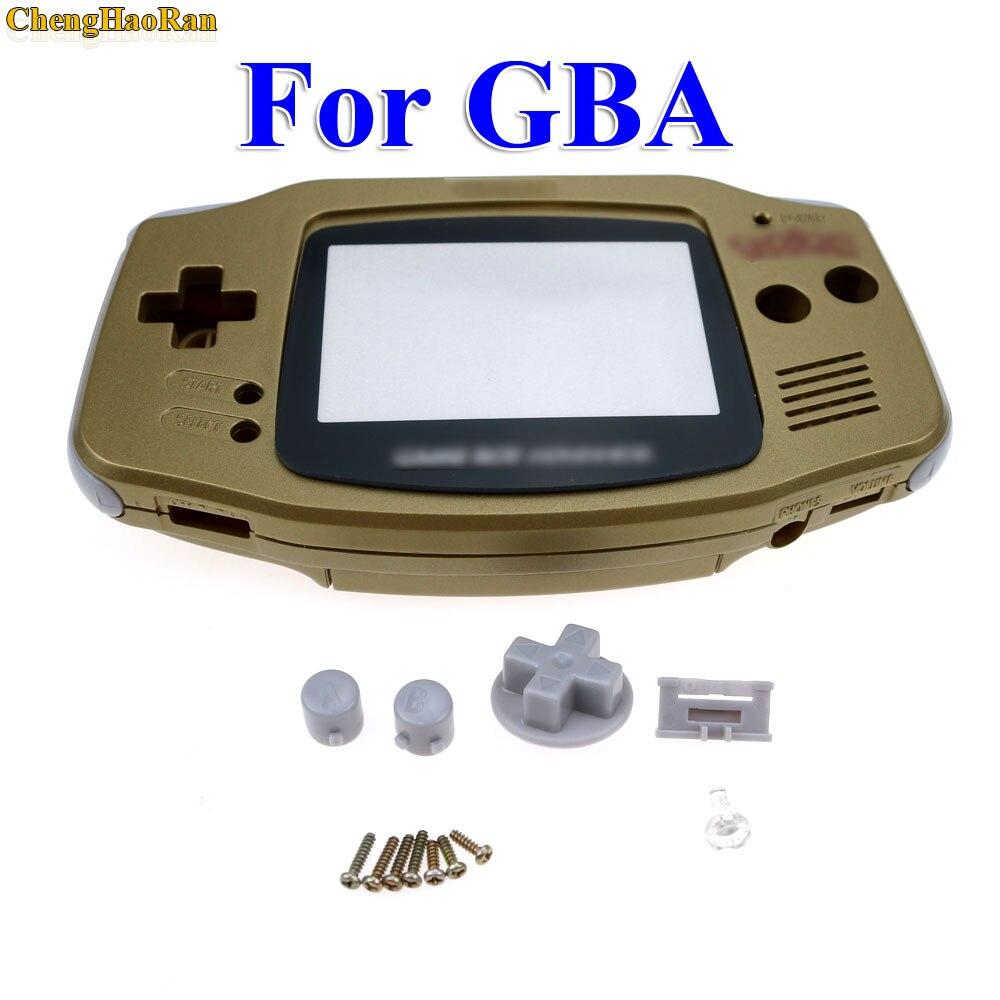 ChengHaoRan 5 комплектов Золотой золотистый корпус Корпус для Gameboy Advance GBA с pika chu Pokemon протектор объектива экрана-in Чехлы from Бытовая электроника