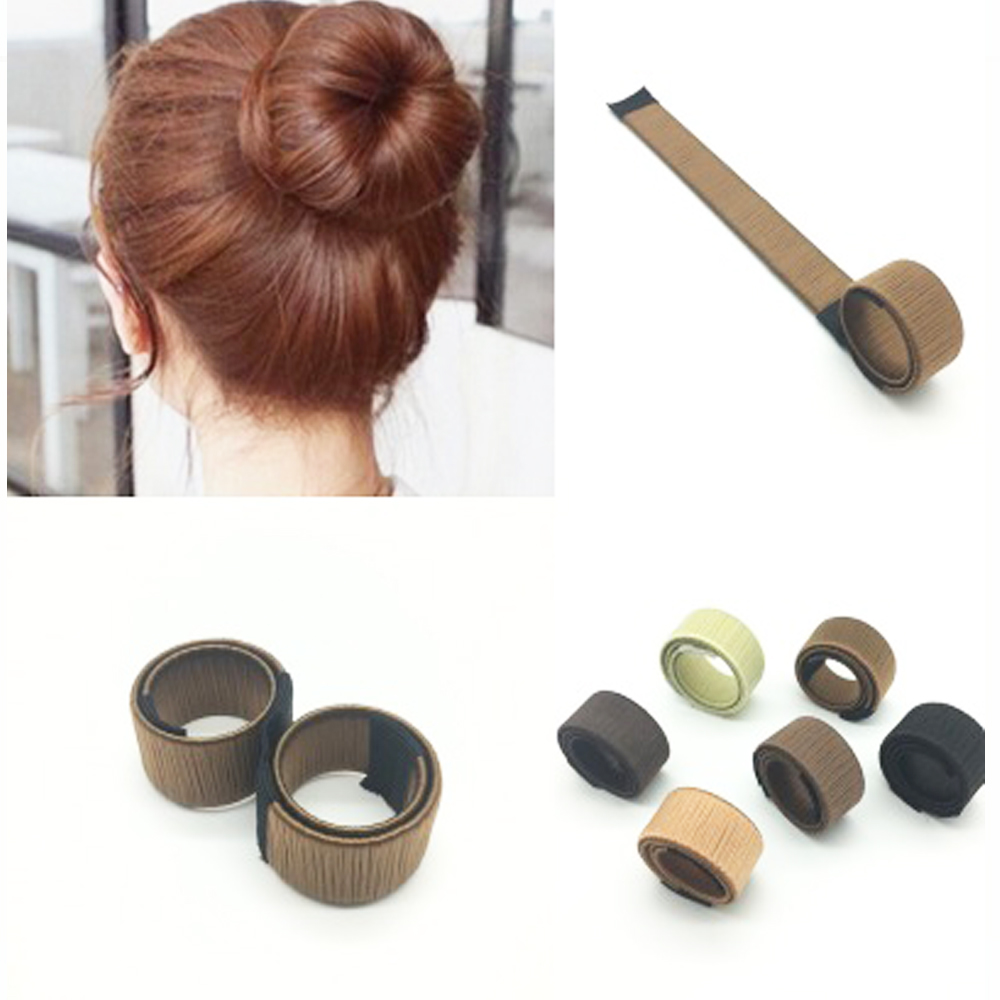 French Twist Magic Hair Styling Tools Donuts Bud Head Band Hair Disk Girls Braider Maker Style Accessories