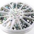 Nail Art Tips Cristal Glitter 3D 12 Estilo Lágrima Decoraciones Del Arte Del Clavo Rhinestone 5 Tamaño de Uñas Accesorios de Uñas decoración