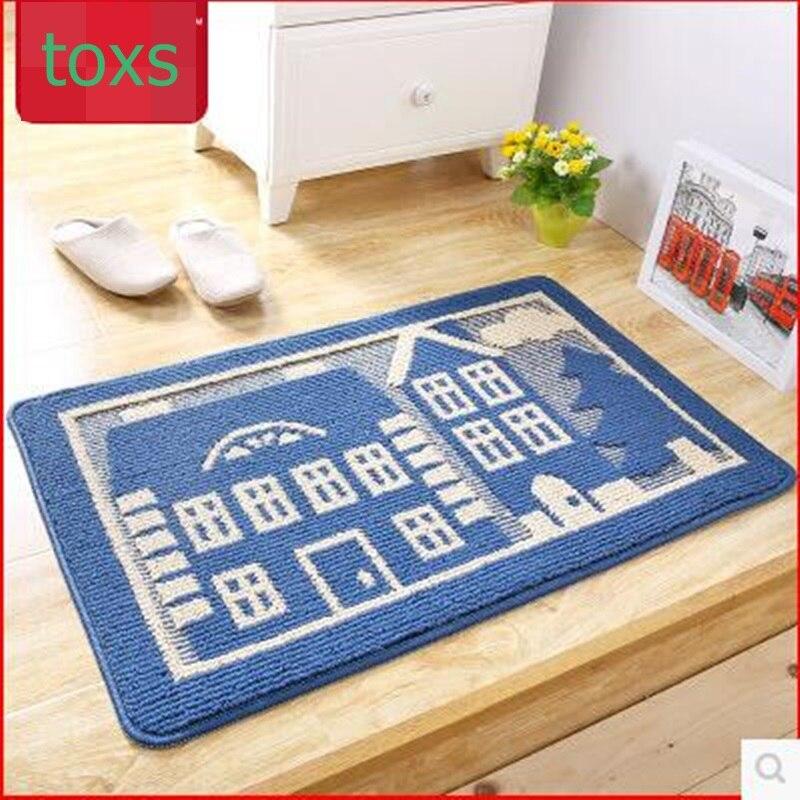 Thickening fashion carpet vintage import doormat mat bathroom waste-absorbing slip-resistant pad