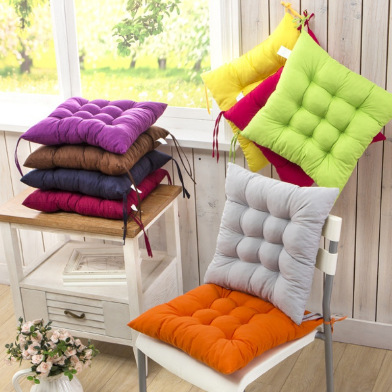 Free Shipping 40 40cm Chair Pad Cushion Pearl Cotton: 40x40CM Sofa Cotton Square Seat Cushion Soft Plush Filling