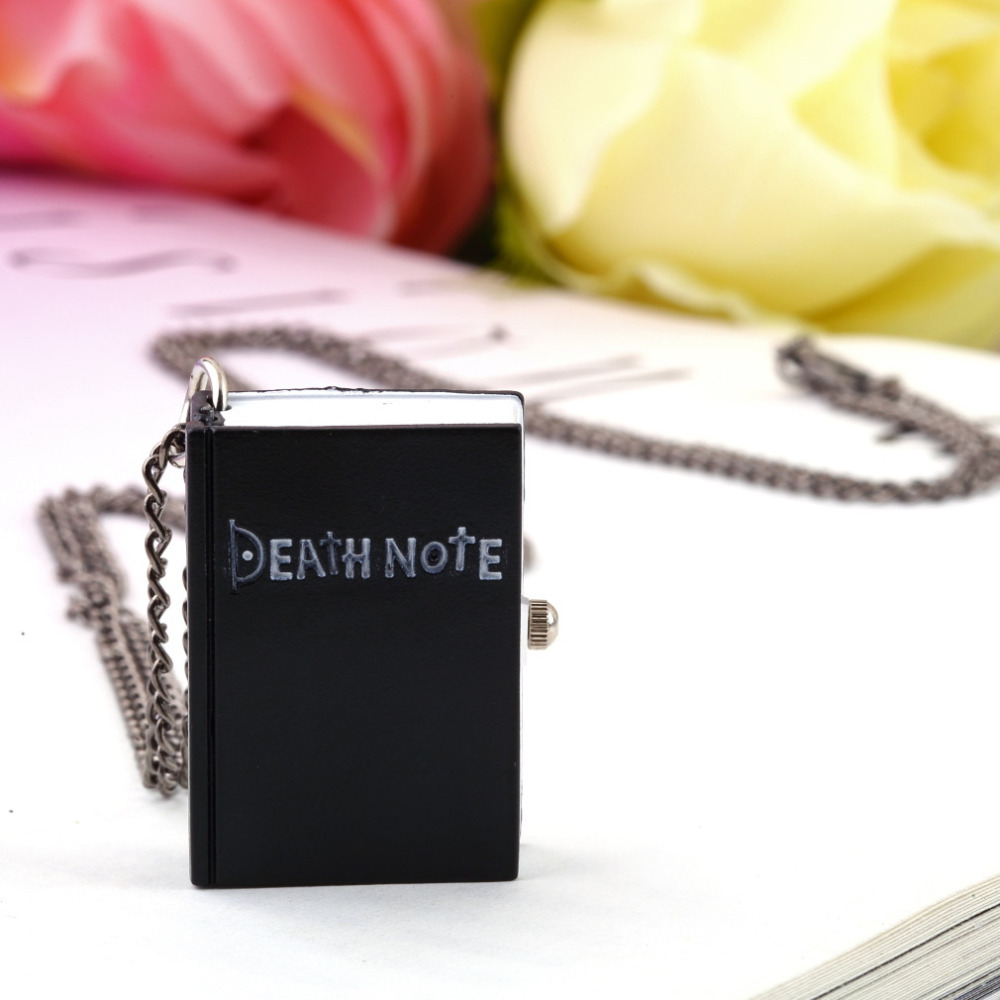 OUTAD 2018 Unique Death Note Book Quartz Pocket Watch Pendant Necklace Vintage Gift Relogio Masculino pocket watch montre A30 new original nj40 u1 e warranty for two year