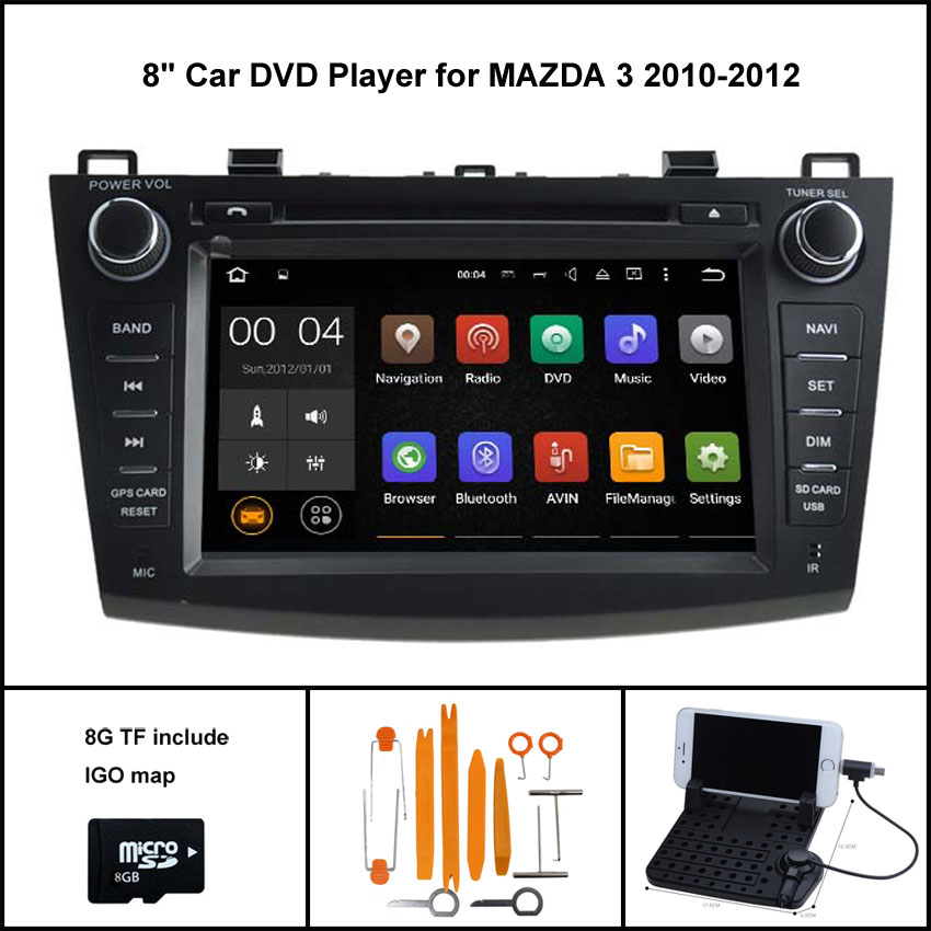 Android 7 1 Quad Core CAR DVD Player for MAZDA 3 2010 2012 GPS CAR font
