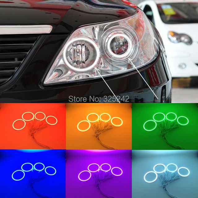 For BYD F6 2008-2011 Excellent Angel Eyes kit Ultra bright RGB Multi-Color LED Angel Eyes Halo Rings led light for mercedes benz b class w245 b160 b180 b170 b200 2006 2011 excellent multi color ultra bright rgb led angel eyes kit