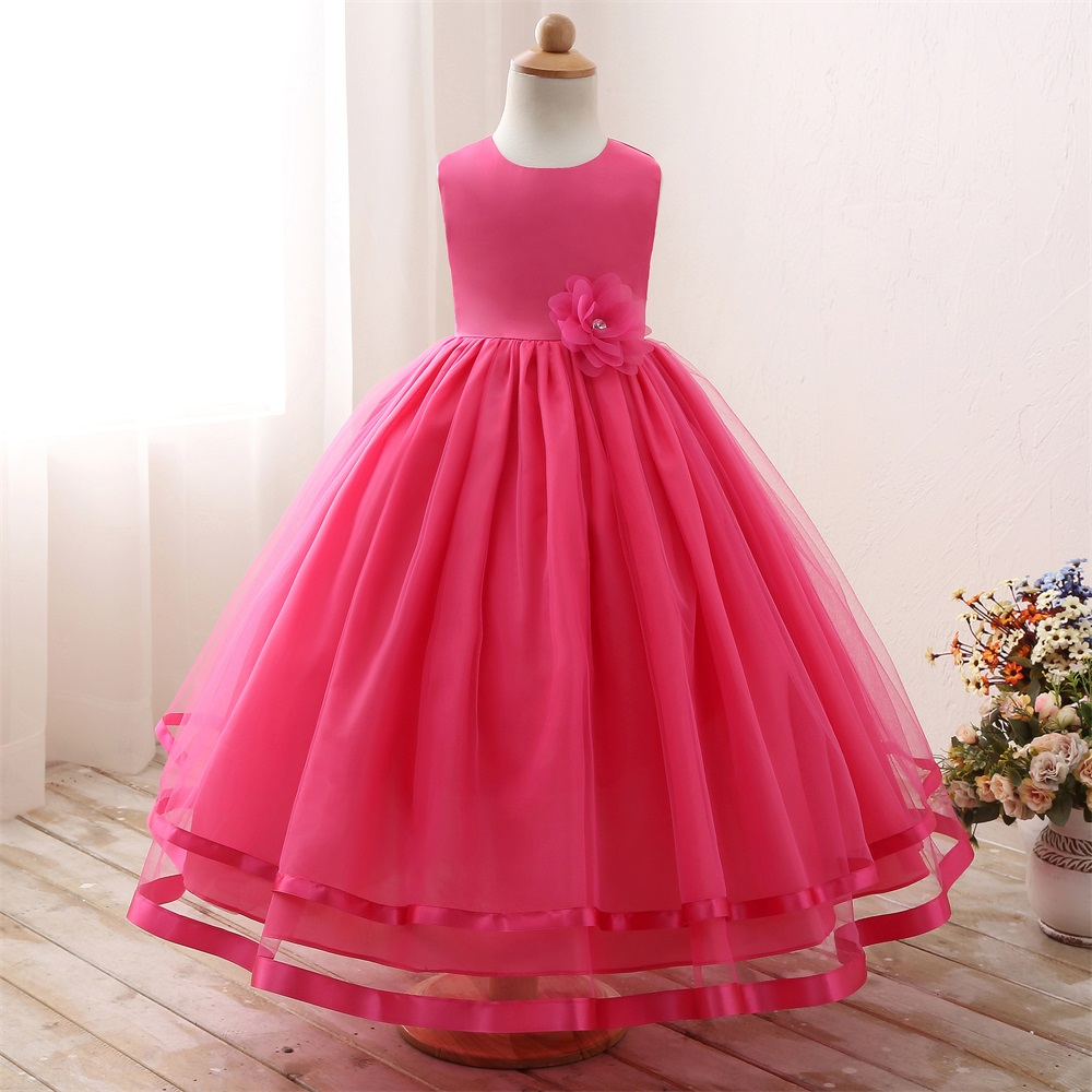 Gorgeous Baby Girl Long Evening Dress Wedding Gown Children S