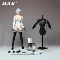PS4 Game 1/6 Cosplay 1/6 Nil Mechanical Era Robot Ulha AUTOMATA 2B Clothes Set With Body Figure For ph body pale