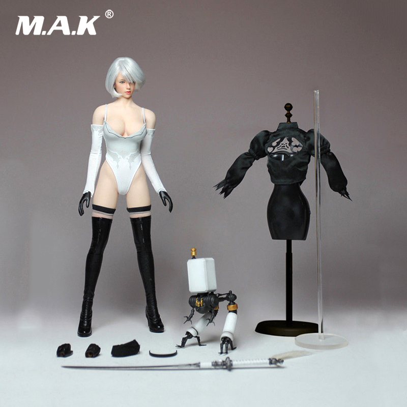 PS4 Game 1/6Cosplay 1/6 Nil Mechanical Era Robot Ulha AUTOMATA2B Clothes Set Without Body Figure For ph body pale