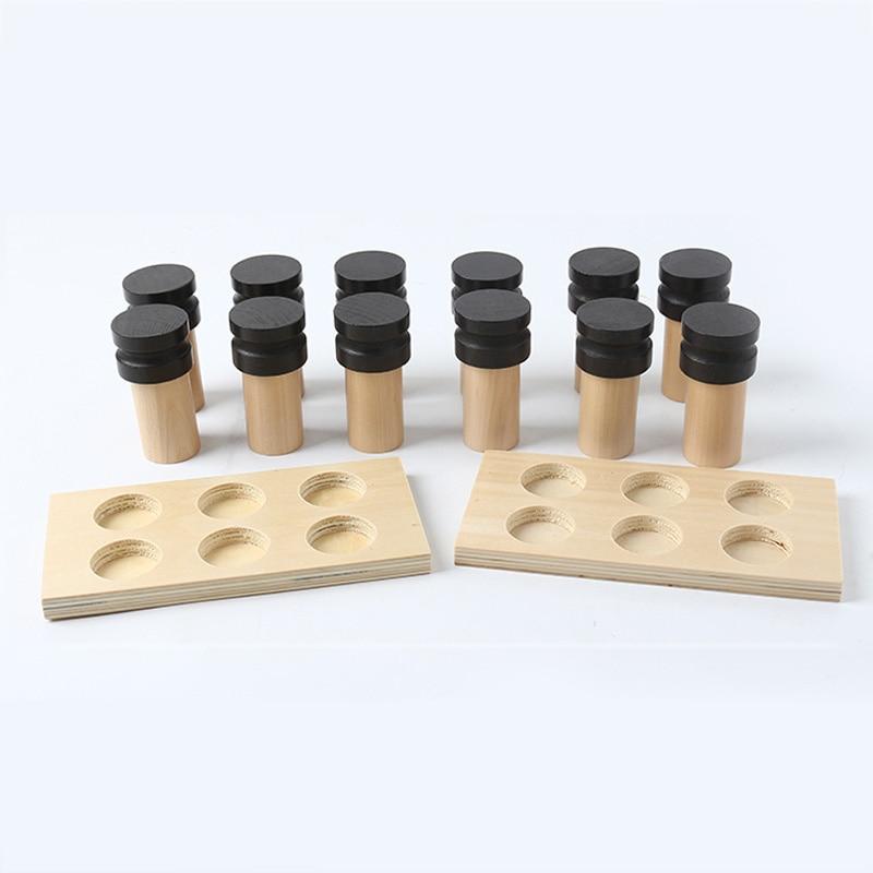 montessori brinquedo educacional de madeira perfume cheirando 04