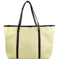 SNNY NEW Korean Style Ladies Girl Hobo PU Leather Handbag Shopping Bag Beige