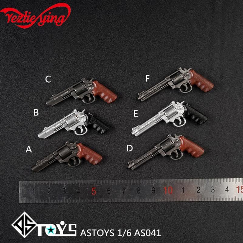 """1//6 ASTOYS AS041-E Silver M/&P Revolver Gun Weapon Model Toys For 12/"""" Figure Body"""