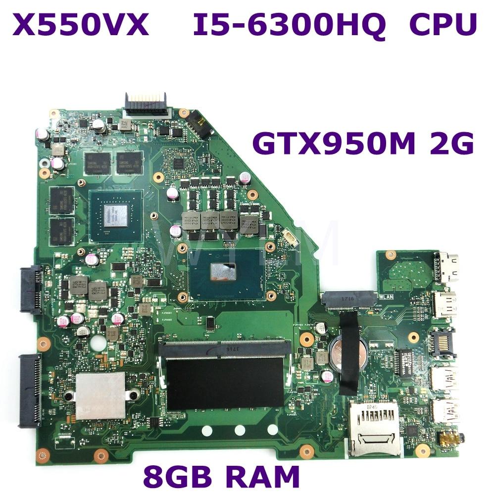 X550VX MB._8G/I5-6300HQ/AS V2G Mainboard REV2.0 For ASUS X550VX X550VC X550V X550 Laptop Motherboard 90NB0BB0-R00030 100% Tested мойка ilve sk100 v2g