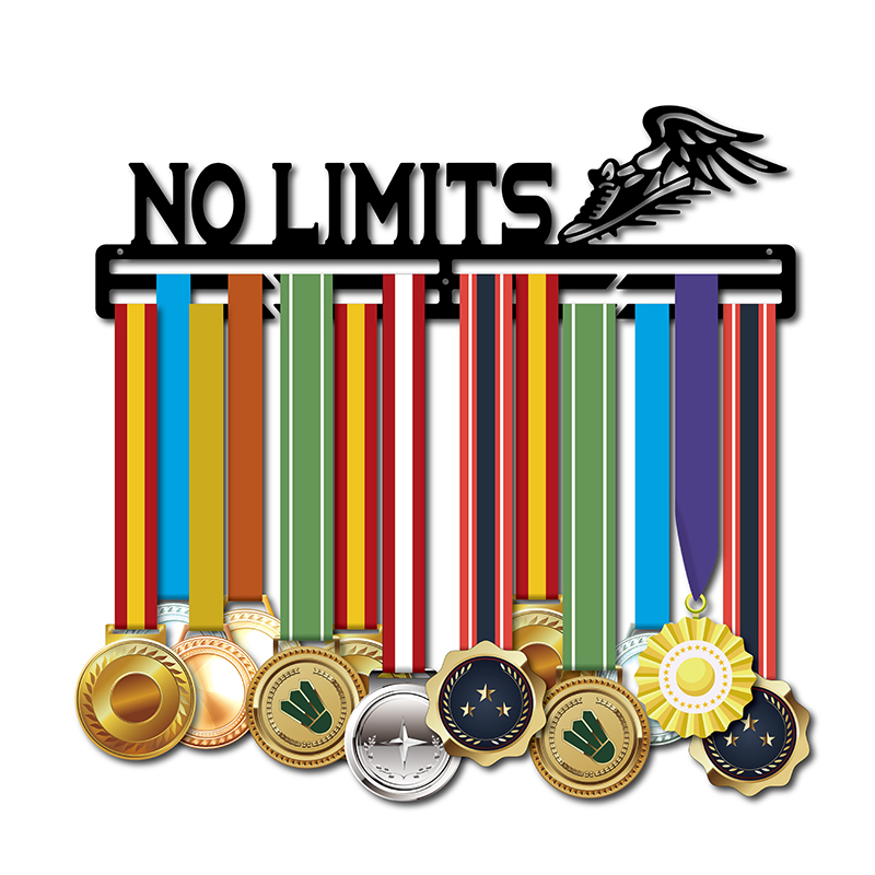 NO LIMITS medal hanger for Swimming Running Cycling Gymnastics Sport medal holder Wall mounted medal display