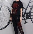 Summer style Tracksuit  suit Womens tracksuit set Hip hop suit harajuku  suits for women