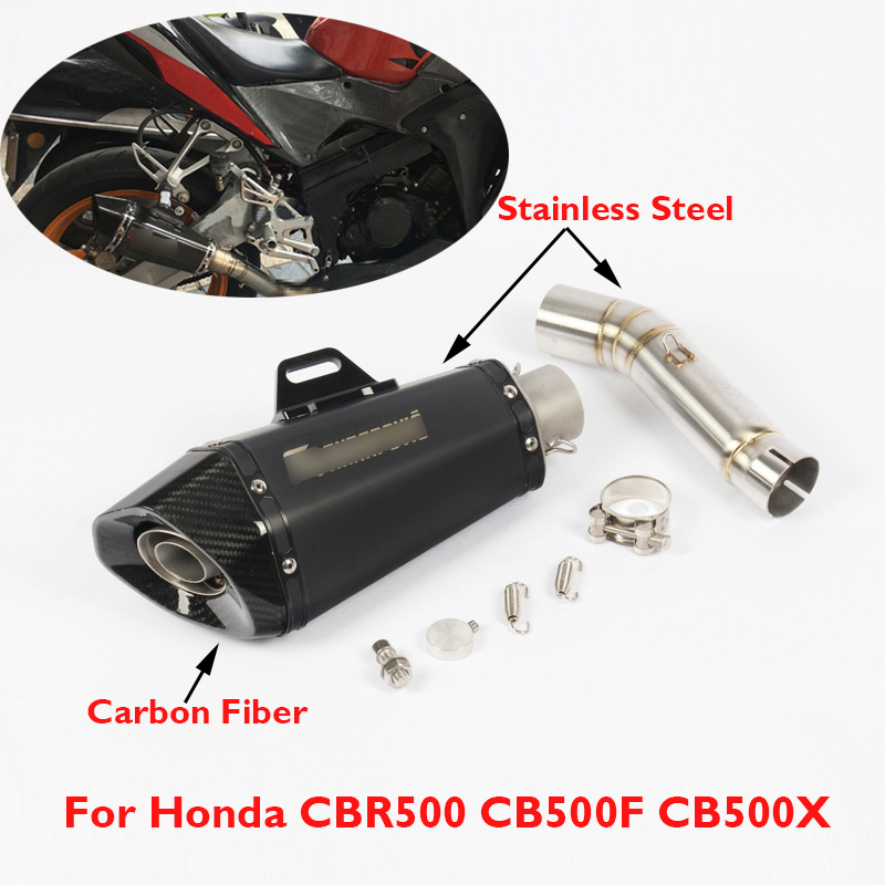 CBR500 CB500X CB500F Motorcycle Exhaust Pipe System Middle Link Connect Slip on for Honda