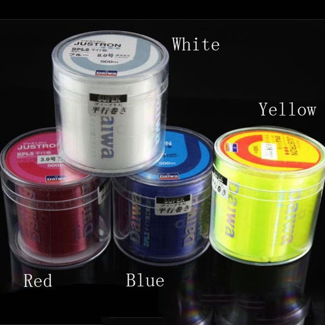 Daiwa Nylon japanese Fishing lines strong tackle 500M 4-30LB Monofilament Material Fishline for Saltwater Freshwater pesca