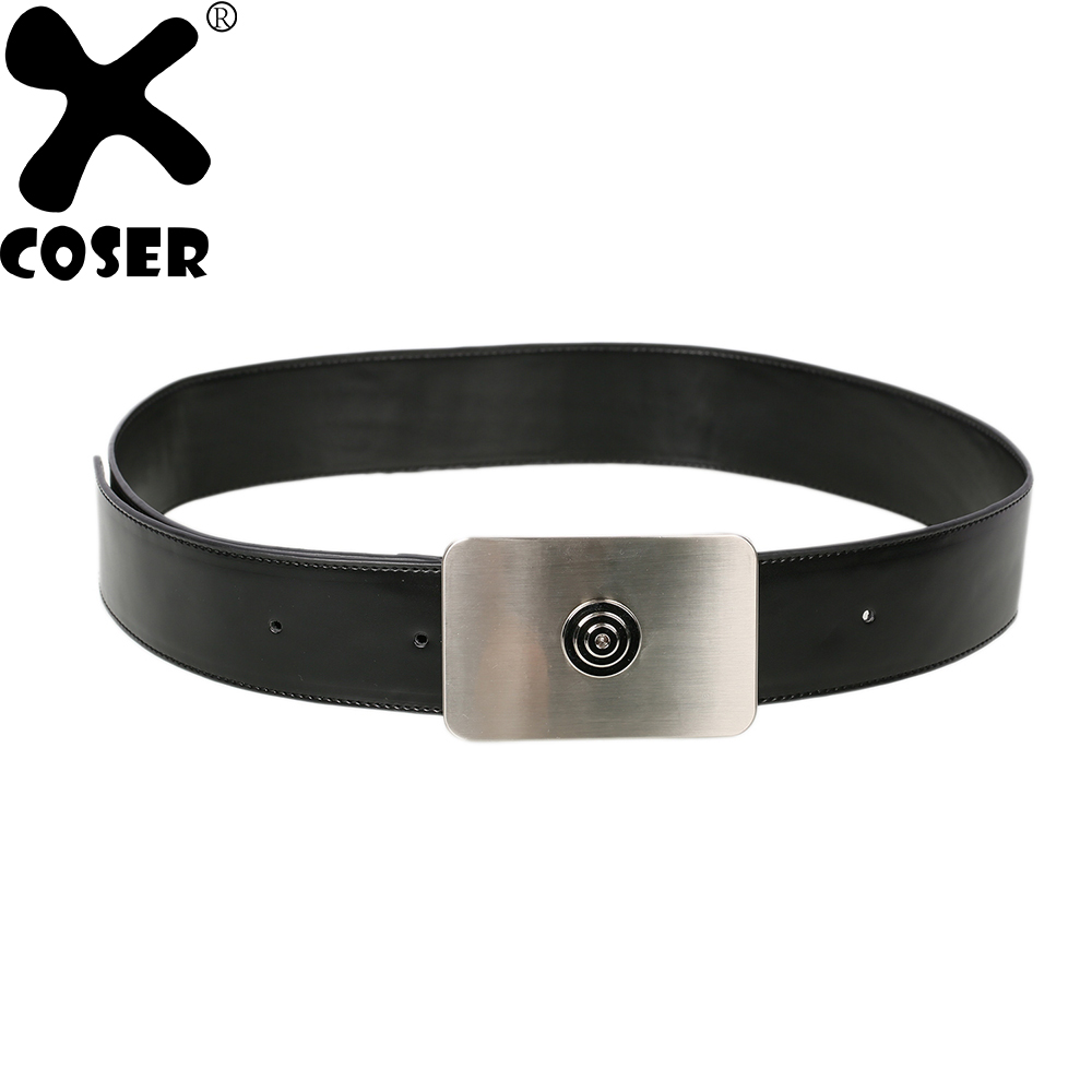 XCOSER Hot Sale Star Wars Imperial Officer Belt Black Movie Cosplay Costume Accessories Halloween Party Cosplay Belt For Men