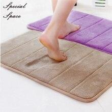 все цены на Bathroom Soft Coral velvet Foam Non-Slip Mat  100*180 CM Living room/bedroom Rug Home Decor Carpet Floor Mats Door Mats онлайн