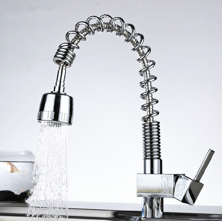 Nice 2015 New Design Kitchen Tap Mixer Pull Out Spray Brass Chrome Hot And Cold  Water Taps Deck Mounted Single Handle Kitchen Faucet In Kitchen Faucets  From Home ...