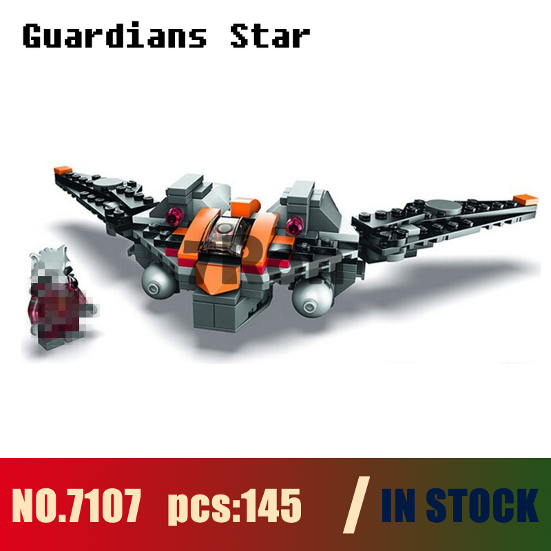 Models building kits 7107 145pcs Guardians Of The Galaxy Rocket Star Fighter Building Blocks compatible with lego toys & hobbies