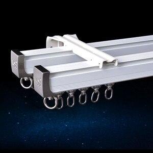 Image 1 - Алюминиевый сплав карниз для штор, Потолочная боковая установка, один прочный тройной аксессуар, размер по заказу