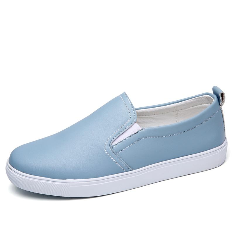 Mocassins Zapatos Cuir Plat Blue Vente Beige black Dames Chaussures Femmes sky Mujer 2018 Été white Pour Casual Printemps silver Laçage En Nouvelle 6AxOSnX