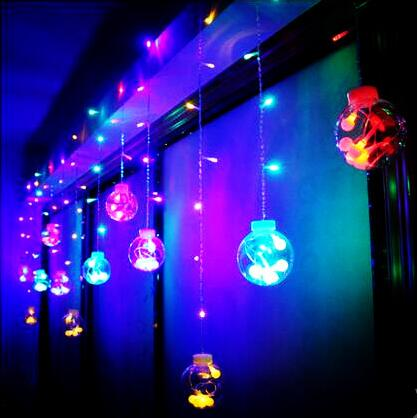 Happy New Year!Cotton Ball Led String Lights Christmas Garlands Wedding Holiday Decoration 3x0.65m Led Cristmas Lights Luces D high quantiy 28 ball led 5m string light for christmas xmas holiday wedding party decoration fashion holiday light 8 mode work